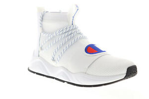 champion rally hype mid cp100177m mens white casual high