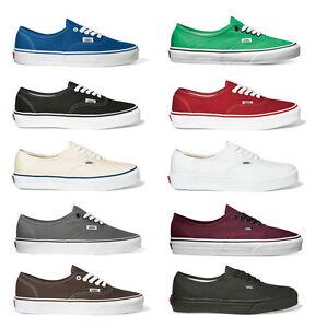 Vans-Authentic-Carryover-Low-Cut-Sneaker-Femmes-Hommes-Tissu-Chaussures-Nouveau