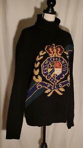 NWT-Polo-Ralph-Lauren-Crest-Wool-Turtleneck-Sweater-Size-L-368