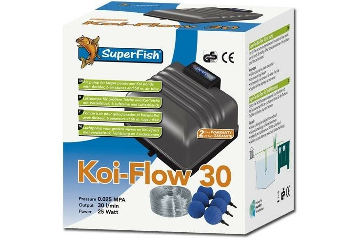 SF Koi-Flow 30 XL Aeratore Stagno Pompa ad aria aria aria 1800 L H 25 W a32059