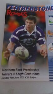 1662002 Featherstone Rovers v Leigh Centurions programme - Warrington, Cheshire, United Kingdom - 1662002 Featherstone Rovers v Leigh Centurions programme - Warrington, Cheshire, United Kingdom