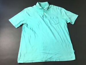 Tommy-Bahama-Relax-Mens-Blue-Short-Sleeve-Front-Pocket-Polo-Shirt-Size-Large