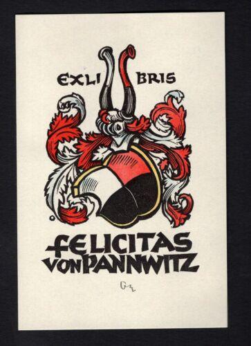 EXLIBRIS,154b heraldry Herbert Ott Heraldik