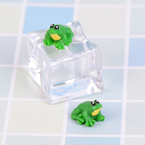 2PCS Dollhouse miniature game scene model accessories mini frog vb