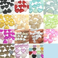 Multi-Color 15MM Charm Resin Heart Stripe Flatback Scrapbook For DIY Craft Hot