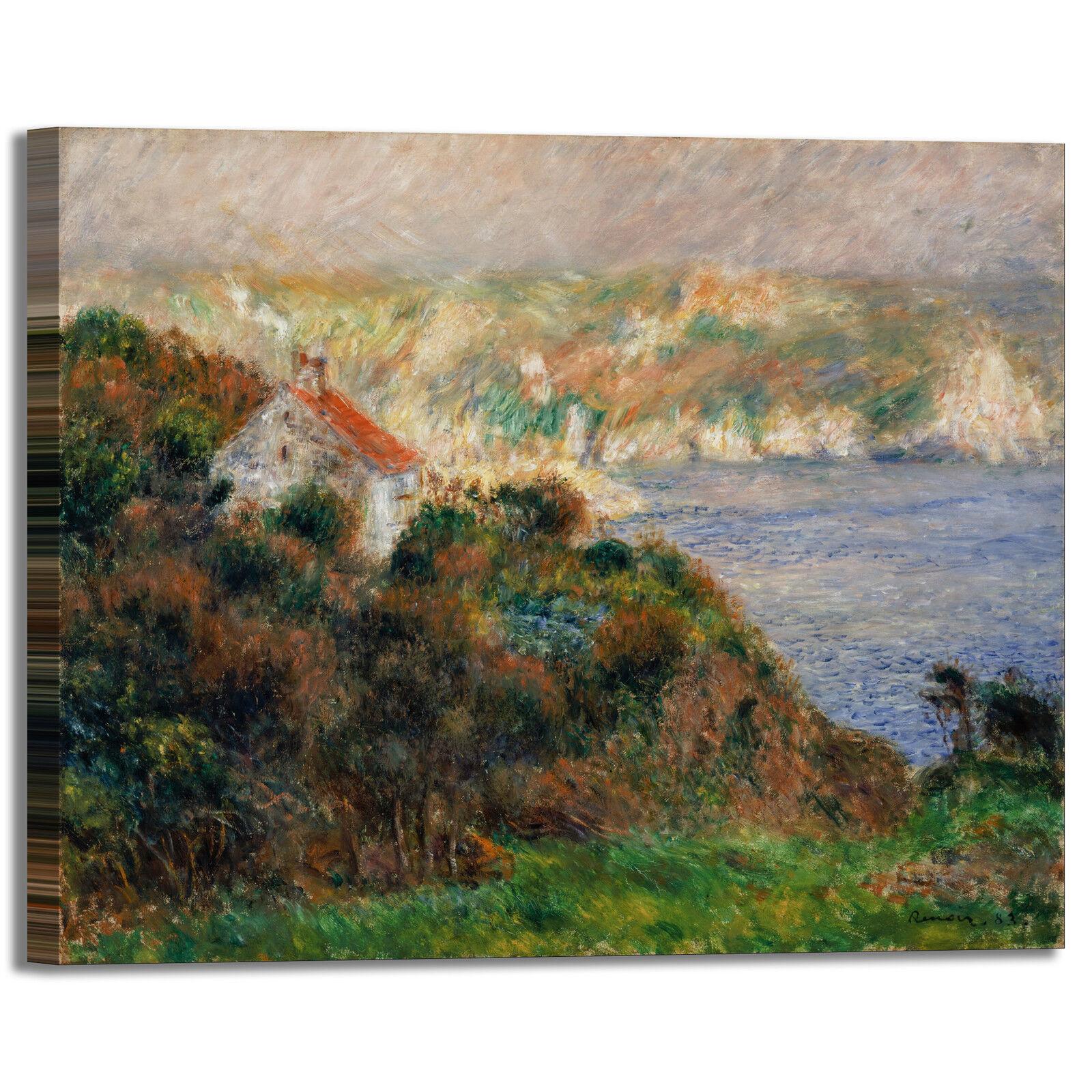 Renero nebbia a Guernsey design quadro stampa stampa stampa tela dipinto telaio arrossoo casa 290993