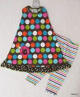 6x 7 Boutique Mis Tee V-us Brown Multi Mod Dot Racerback Dress Capri 2p Set