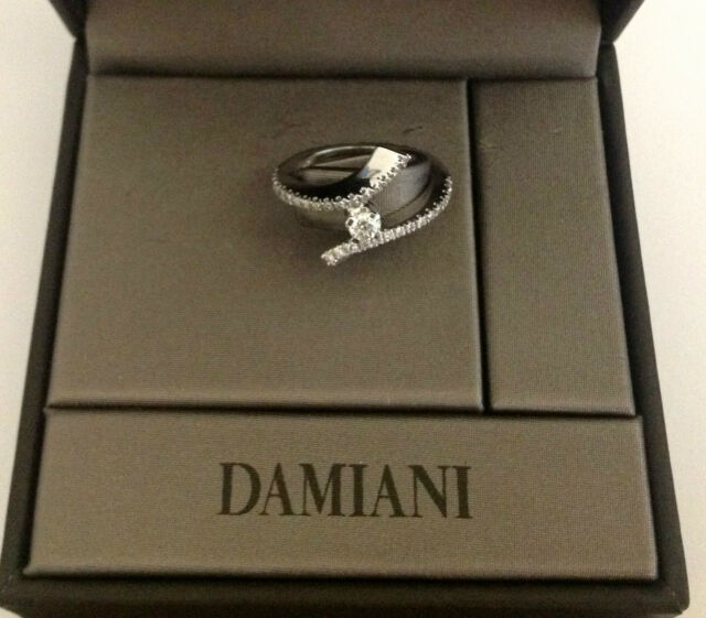 ORIGINAL DAMIANI ENGAGEMENT RING 18KT WHITE GOLD WITH NATURAL DIAMONDS