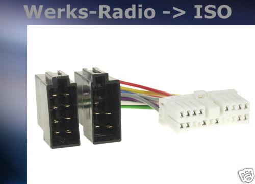 = radio cable de conexión adaptador SsangYong 321086-02