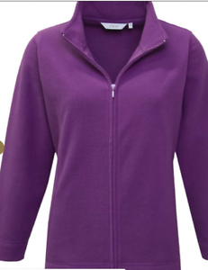 LADIES EX EWM FULL ZIP FLEECE JACKET NAVY OR POLAR BEAR XS-XL FREE P/&P