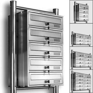 Details zu Kelvin® Edelstahl Standbriefkasten Briefkasten Anlage  3,4,5,6,8,10 & 12er