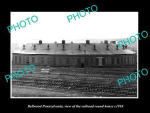 OLD-LARGE-HISTORIC-PHOTO-OF-BELLWOOD-PENNSYLVANIA-THE-RAILROAD-ROUNDHOUSE-c1910