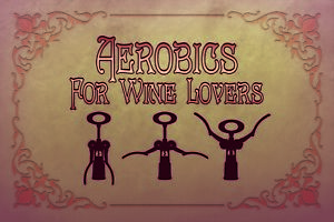 Aerobics-for-Wine-Lovers-Tin-Sign-Shield-Arched-Tin-Sign-20-x-30-cm-CC0976