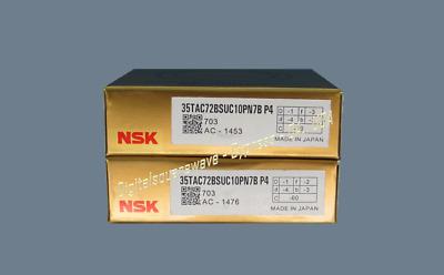 NEW NSK 17TAC47BDDGSUC10PN7BP4 Abec-7 Ball Screw Bearings. Matched Set of Two