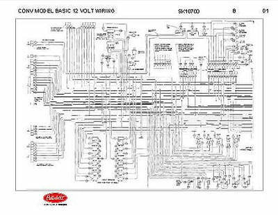 peterbilt 348 conventional models basic 12 volt wiring diagram schematic |  ebay  ebay