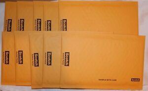 10 Scotch 3m Bulle Mailer 5x9 Artisanat Auto-obturant Rembourré Expéditeurs Moderne Et EléGant à La Mode