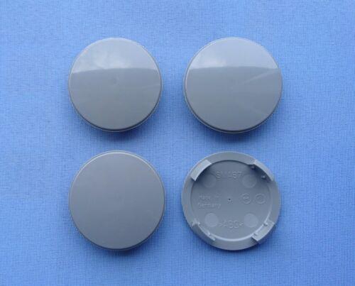 4 x NABENKAPPE NABENDECKEL FELGENDECKEL 56,5 mm SMA57 Grau