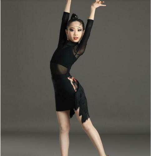 Details about  /New Children Latin Dance Dress Performance Clothes Practice Competition Clothing
