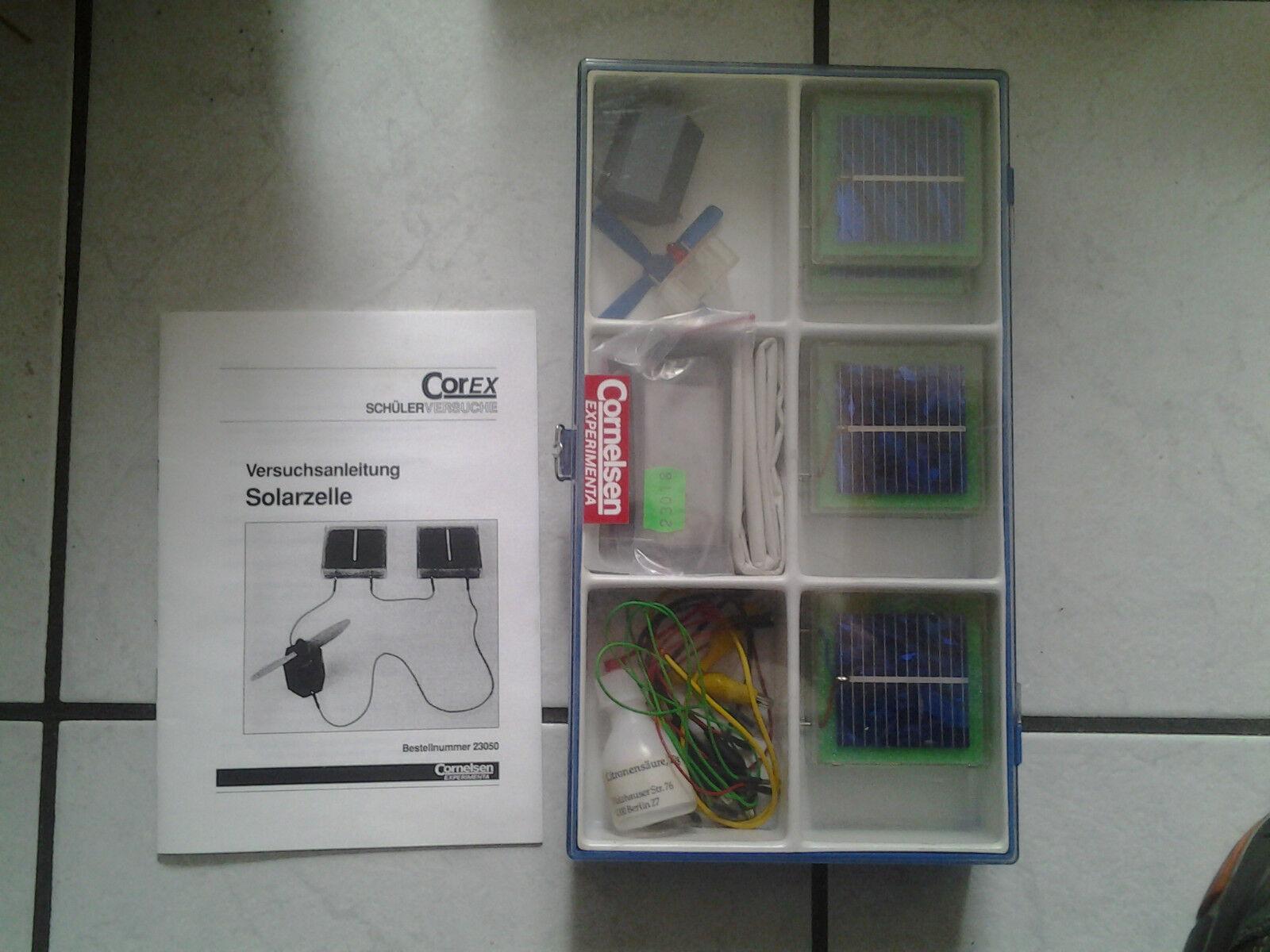 Corex (Cornelsen)Experimenta Baukasten für Solarzelle (alt -aber gut) Set 1