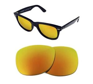 984a41846a NEW POLARIZED CUSTOM FIRE RED LENS FIT RAY BAN WAYFARER 2140 54mm ...