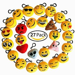 Image Is Loading Emoji Keychain 27 Pack Birthday Party Supplies Favors