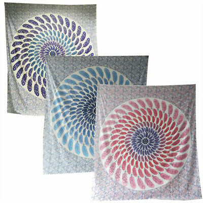 Quilts, Bedspreads & Coverlets Home & Garden Feather Mandala Tagesdecken-wandbehang-dekotuch Various Colors 210x240 Cm Highly Polished