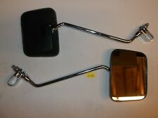 09-0205 EMGO SQUARE BLACK 7/8 CLAMP MIRRORS  SCOOTER MOTORCYCLES UNIVERSAL