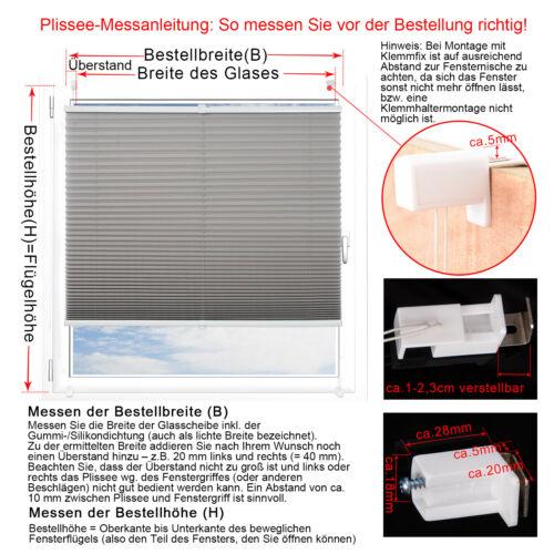 Plissé Protection Solaire Stores Klemmfix sans Percer avec spannschue faltrollo bzl08