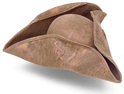 Pirate and Colonial Hat - Tri-Corner Brown