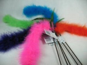 5-Cat-Tail-Marabou-Feather-wand-toy-toys-kitten-pole-Free-shipping