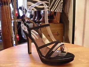 Escarpins-sandales-italiens-DONNA-PIU-en-cuir-noir-avec-cristaux-de-svarowski