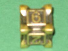 IRONDIE YELLOW SWARM Gold-gelber Metall Würfel