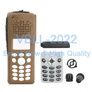Brown-Full-Keypad-Replacement-Housing-Case-For-MOTOROLA-XTS2500-XTS2500I-Model-3