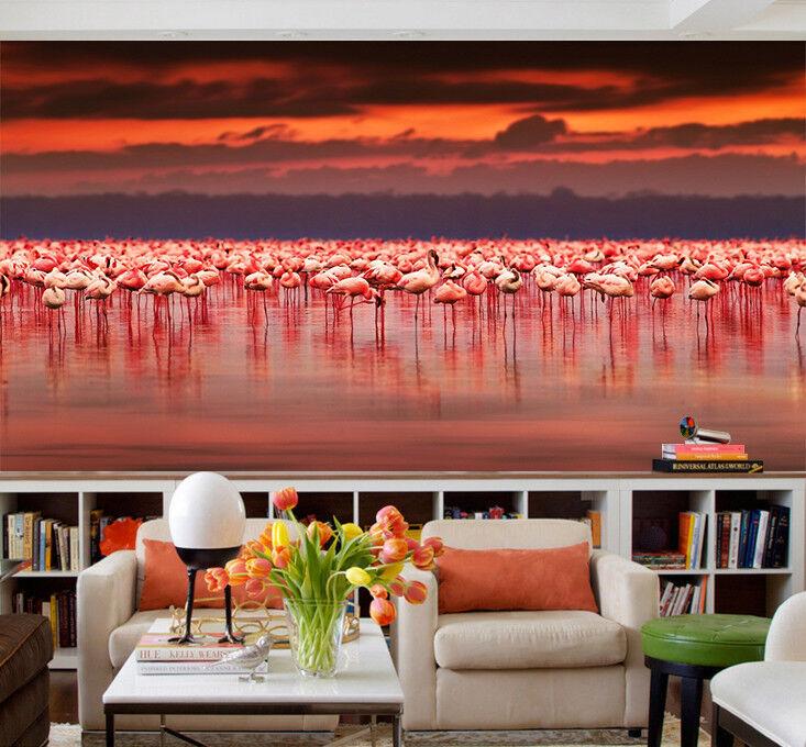 3D Egret Sunset Cloud 7 Wall Paper Murals Wall Print Wall Wallpaper Mural AU Kya