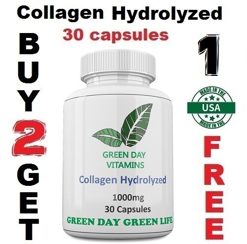 Collagen-Hydrolyzed-1000mg-Skin-Nails-and-Hair-Health-Made-USA-Free-shipping