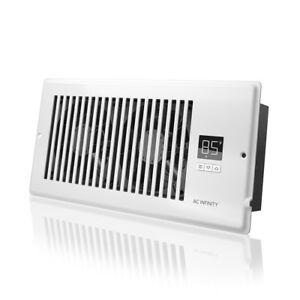 AIRTAP-T4-Quiet-Register-Booster-Fan-Heating-Cooling-4-x-10-Registers-White