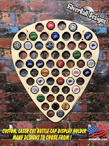 Guitar-Pick-Custom-Beer-Pop-Cap-Holder-Collection-Display-Gift-Man-Cave-Fender