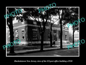 OLD-LARGE-HISTORIC-PHOTO-OF-HACKETTSTOWN-NEW-JERSEY-POST-OFFICE-BUILDING-c1930