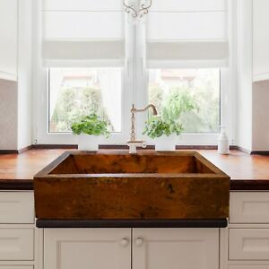 Image Is Loading Hammered Copper A Farmhouse Kitchen Sink 33 034