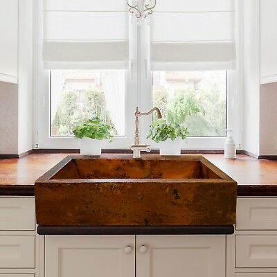 Hammered Copper Farmhouse Kitchen Sink 33\