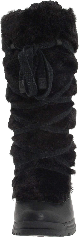 Merrell Women's Women's Women's Katia Waterproof Faux Fur Winter Opti-Warm Black Boots Size US 5 c83288
