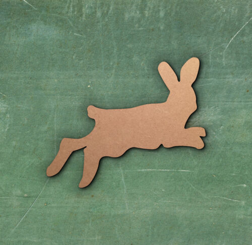 BUNNY RABBIT HARE CUT MDF WOODEN SHAPE Wood Craft Arts Decoration