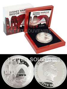 2017-Sydney-Harbour-Bridge-2oz-99-9-High-Relief-Silver-proof-Coin-348-of-850