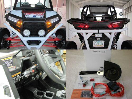 Street Legal Kit 2016-19 Polaris RZR LED Turn Signals Horn License Plate Bracket
