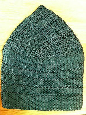 Green Kufi Skull Cap Crochet Beanie Hat 100% Cotton New Topi Pakol Afghan  Indian 16b0fb1cb392