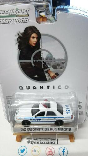 N34 Greenlight Hollywood Quantico 2003 Ford Crown Victoria Police Interceptor