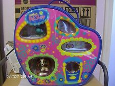 Littlest Pet Shop Vinyl Carrying/Traveling Case ~ Cocker Spaniel & Frog NIB