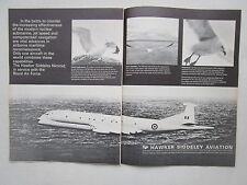 9/1971 PUB HAWKER SIDDELEY AVIATION NIMROD RAF GOELAND MARIN ORIGINAL AD