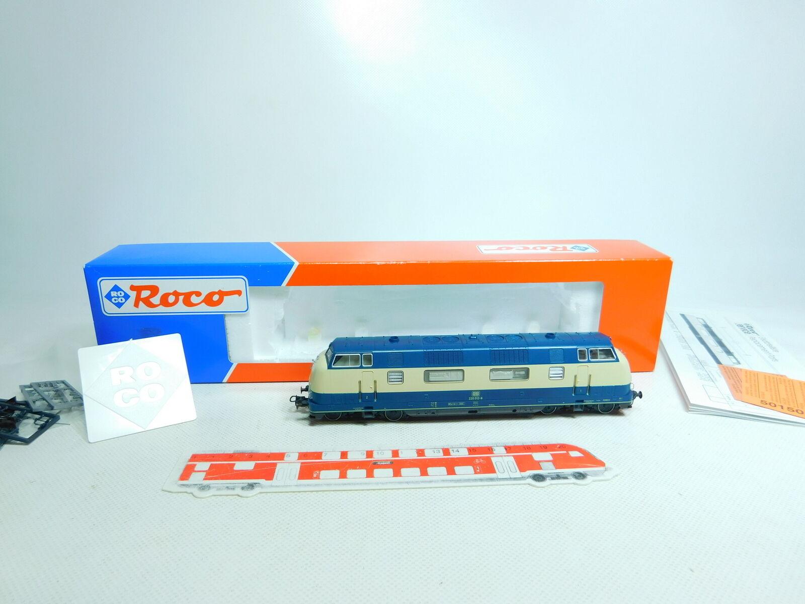 Bu711-2 roco h0 ac 43911 diesel locomotive diesellokomotive 220 012-9 db,