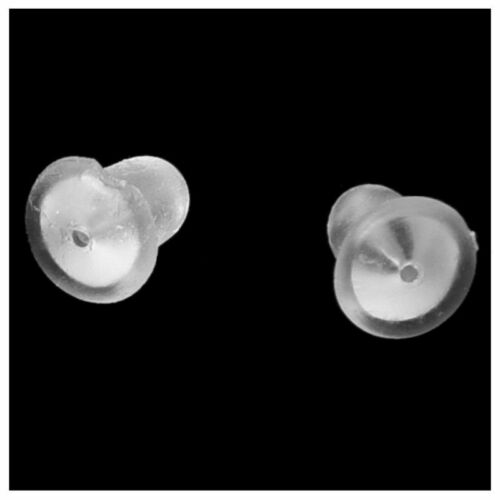 100 Transparent Rubber Bullet Clutch Earring Safety Backs Ear Nuts Earring  L7L8